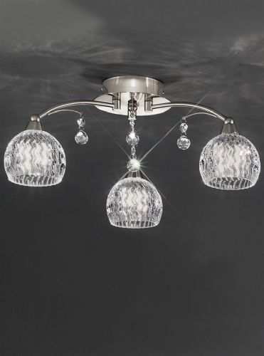 Franklite FL2295/3 Satin Nickel Ceiling Light